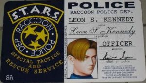 Resident Evil RPD Leon Kennedy Security ID Pass Card